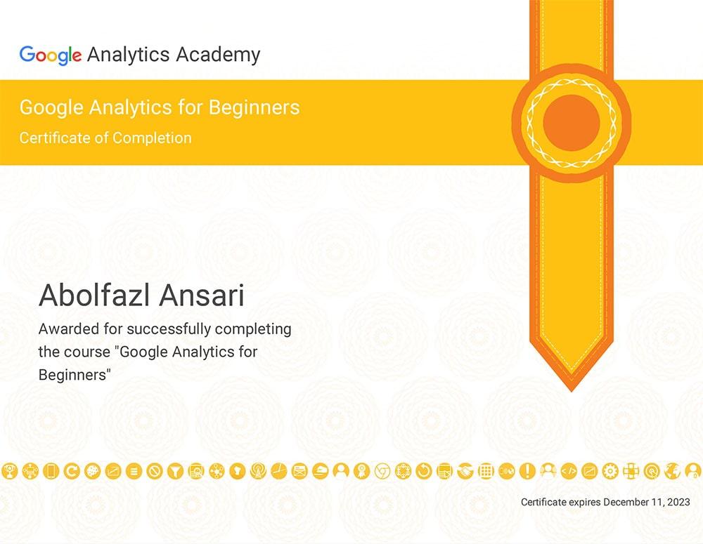 دوره آموزشی دریافت گواهینامه گوگل آنالیتیکس (سطح مقدماتی)