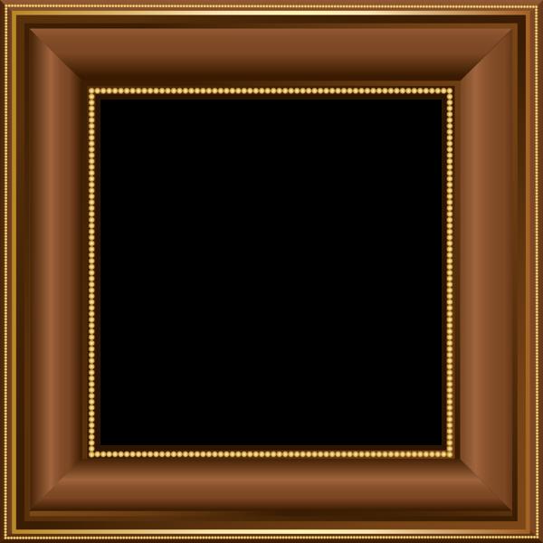 قاب عکس چوبی قهوه ای ساده