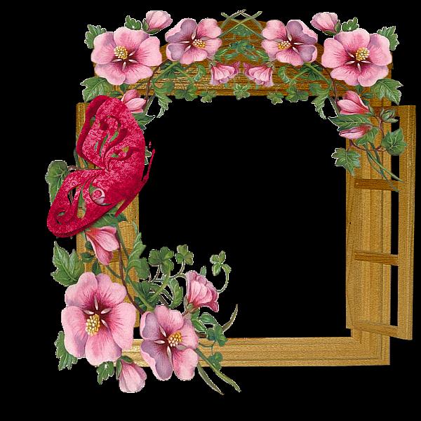 دانلود قاب عکس گل دار برای فتوشاپ
